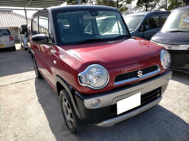 沖縄の中古車 スズキ ハスラー 車両価格 64万円 リ済込 2015(平成27)年 7.4万km レッドII