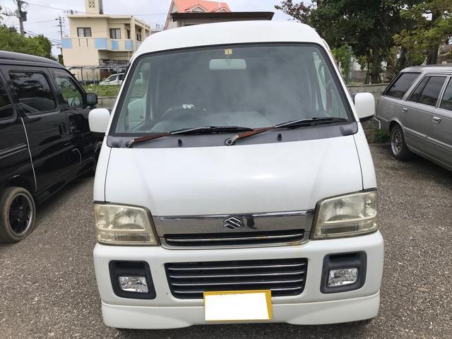 沖縄県うるま市の中古車ならエブリイワゴン ジョイポップターボPZ ハイルーフ インタークーラーターボ フル装備 社外アルミ 現状販売