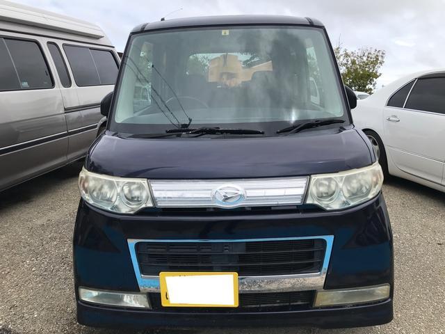 沖縄県の中古車ならタント カスタムXリミテッド スマートキー キーフリースタート 純正オーディオ  左パワースライドドア ベンチシート 社外アルミ オートエアコン ウインカーミラー