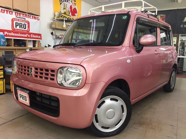 沖縄の中古車 スズキ アルトラパン 車両価格 49万円 リ済込 2010(平成22)年 6.7万km ピンクM