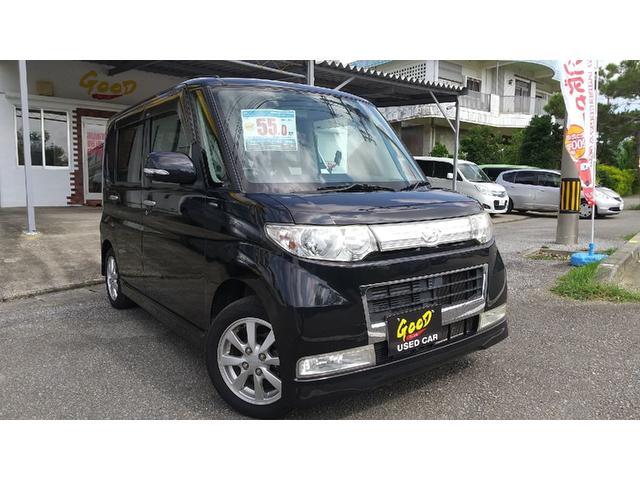 沖縄の中古車 ダイハツ タント 車両価格 39.8万円 リ済別 2008(平成20)年 9.9万km ブラック