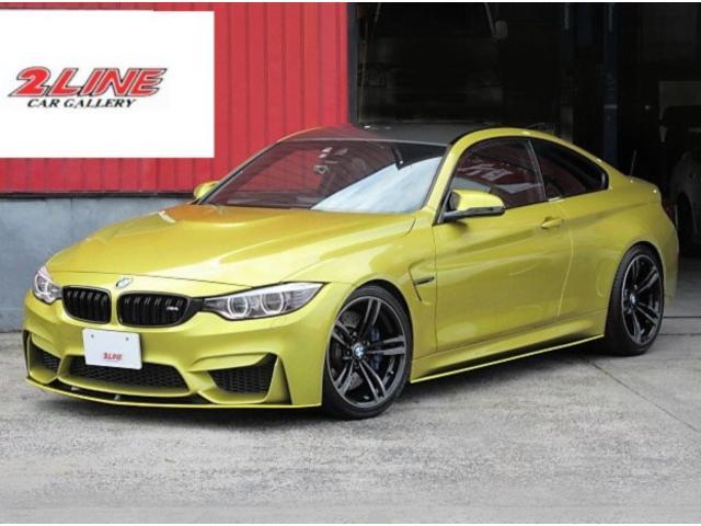 BMW M4クーペ M4クーペ(4名) 6MT 左ハンドル H&Rローダウン バルブコントローラー Mパフォーマンスエアロ インテリジェントセーフティ コンフォートアクセス LEDライト カーボンインテリアパネル 記録簿