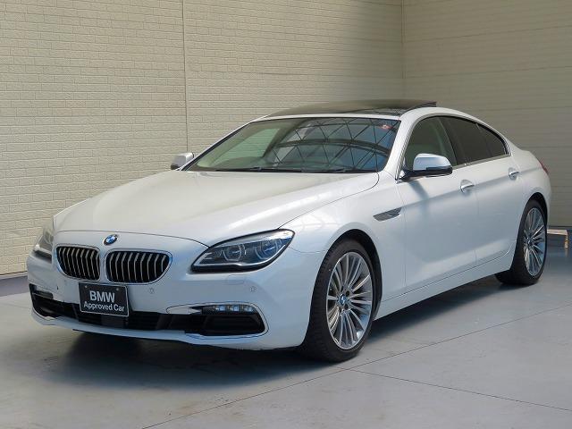 BMW 6シリーズ 640iグランクーペ コンフォートパッケージ LEDヘッドライト 19インチアルミ サンルーフ パークディスタンスコントロール ソフトクローズドア 純正HDDナビ フルセグTV バックカメラ ETC 認定中古車