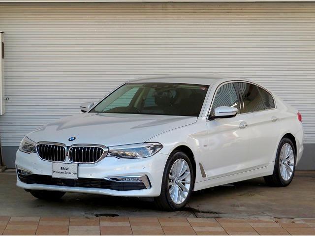 BMW 523d ラグジュアリー クリーンディーゼル LEDヘッドライト 18インチアルミ 電動トランク ブラックレザーインテリア コンフォートアクセス 純正HDDナビ フルセグTV バックカメラ 認定中古車