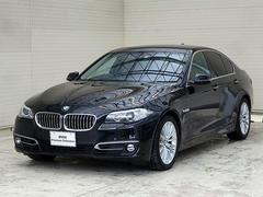 BMW523ラグジュアリー黒革18AW斜線逸脱Bカメラスマートキー