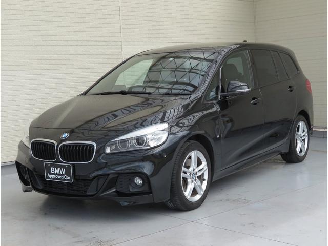 BMW 2シリーズ 218iグランツアラー Mスポーツ コンフォートPKG LEDヘッドライト 17AW Aトランク スマートキー 黒革 純正ナビ リンビューカメラ へッドアップディスプレイ 純正ETC Aクルコン 車線逸脱警告 3列シート 認定中古車
