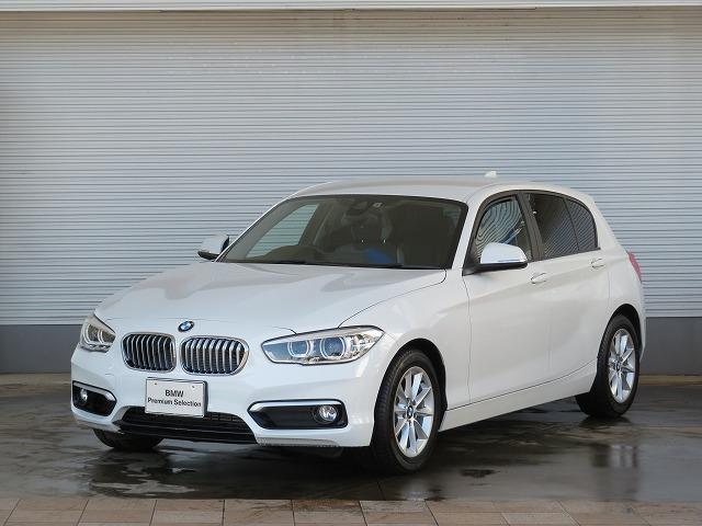 BMW 118i スタイル LEDヘッドライト 16AW パーキングサポートPKG リアPDC 純正ナビ iDriveナビ リアビューカメラ 純正ETC レーンディパーチャーウォーニング クルーズコントロール 認定中古車