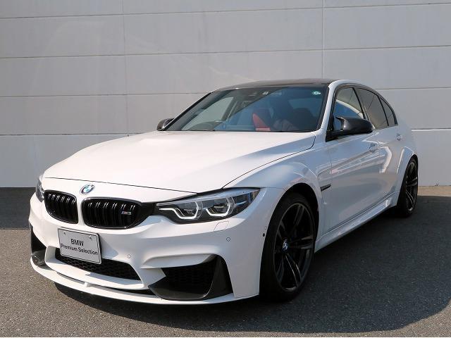 BMW M3 LEDヘッドライト 19AW パーキングサポートPKG コンフォートアクセス レザーシート 純正ナビ iDriveナビ 地デジ フルセグ トップ リアビューカメラ 純正ETC レーンチェンジ