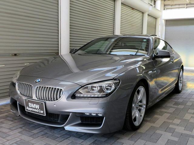 BMW 6シリーズ 650iクーペ Mスポーツパッケージ LEDライト 19AW サンルーフ PDC スマートキー 黒革 純正ナビ フルセグ Bカメラ クルコン