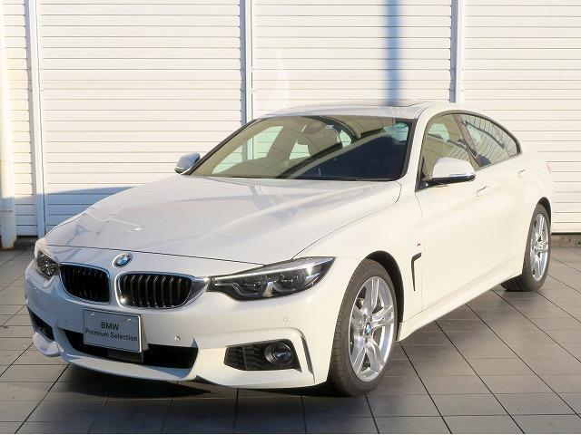 BMW 420iグランクーペ Mスポーツ LEDヘッドライト 18AW サンルーフ ガラスSR オートトランク コンフォートアクセス 黒革 マルチディスプレイメーター 純正ナビ iDriveナビ 地デジ フルセグ リアビューカメラ 純正ETC