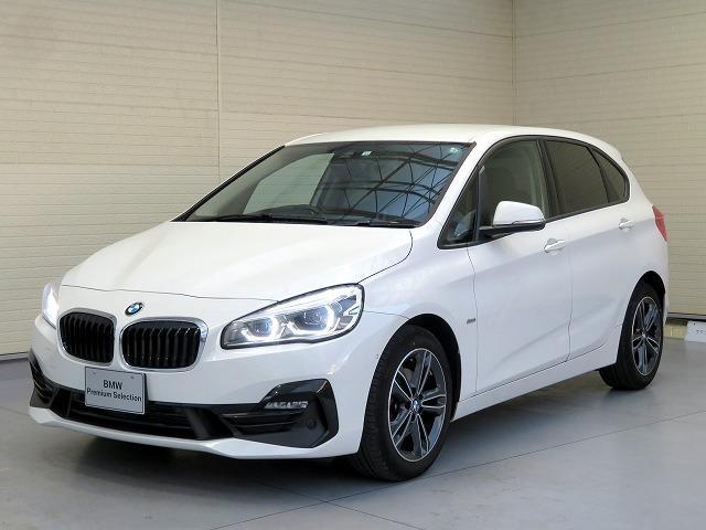BMW 218dアクティブツアラー スポーツ コンフォートPKG LEDヘッドライト 17AW パーキングサポートPKG オートトランク コンフォートアクセス シートヒーター 純正ナビ iDriveナビ リアビューカメラ 車線逸脱防止 認定中古車