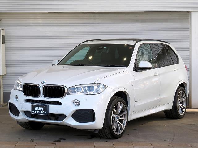 BMW X5 xDrive 35d Mスポーツ キセノン 20インチアルミ パノラマサンルーフ PDC オートトランク ブラックレザー 純正ナビ フルセグ アクティブクルーズコントロールストップ&ゴー レーンディパーチャーウォーニング 認定中古車