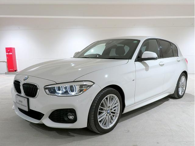 BMW 1シリーズ 118d Mスポーツ コンフォートPKG LEDヘッドライト 17AW パーキングサポートPKG PDC コンフォートクセス シートヒーター 純正ナビ iDriveナビ リアビューカメラ 純正ETC クルコン 認定中古車