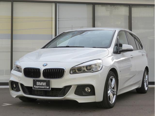 BMW 218iグランツアラー Mスポーツ コンフォートPKG LEDヘッドライト 17AW リアPDC オートトランク コンフォートアクセス 純正ナビ iDriveナビ 地デジ フルセグ リアビューカメラ 純正ETC 車線逸脱 認定中古車