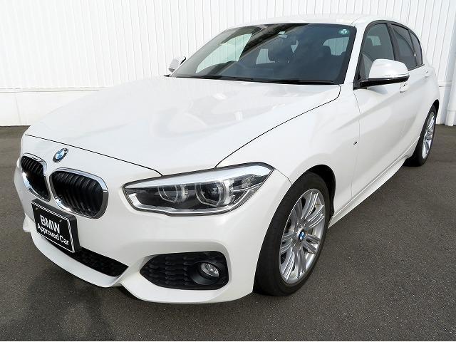BMW 118i Mスポーツ LEDヘッドライト 17AW パーキングサポートPKG リアPDC 純正ナビ リアビューカメラ 純正ETC レーンディパーチャーウォーニング クルーズコントロール 認定中古車