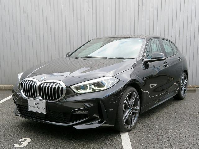 BMW 118i Mスポーツ コンフォートPKG LEDヘッドライト 18AW PDC オートトランク コンフォートアクセス 純正ナビ iDriveナビ リアビューカメラ 純正ETC アクティブ クルーズコントロール 認定中古車