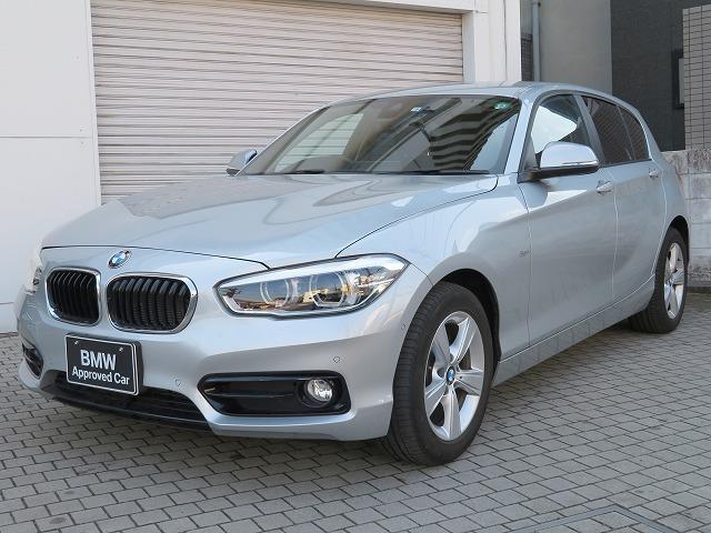 BMW 118i スポーツ コンフォートPKG LEDヘッドライト 16AW コンフォートアクセス 純正ナビ iDriveナビ リアビューカメラ 純正ETC クルーズコントロール レーン ディパーチャー ウォーニング 認定中古車