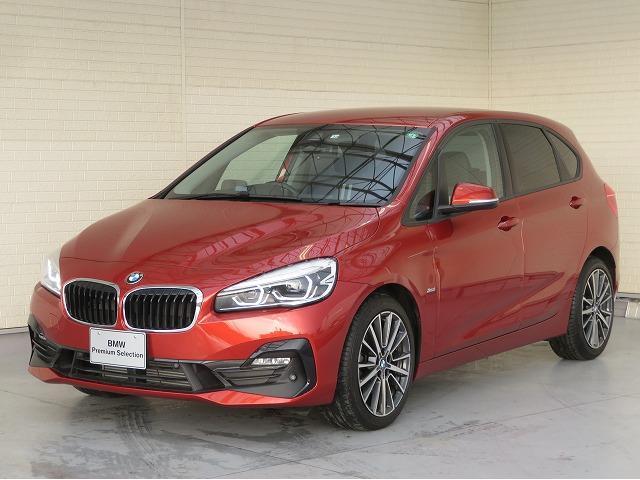 BMW 218dアクティブツアラー スポーツ コンフォートPKG LEDヘッドライト 18AW パーキングサポートPKG オートトランク コンフォートアクセス シートヒーター 純正ナビ リアビューカメラ HUD 純正ETC Aクルコン 認定中古車