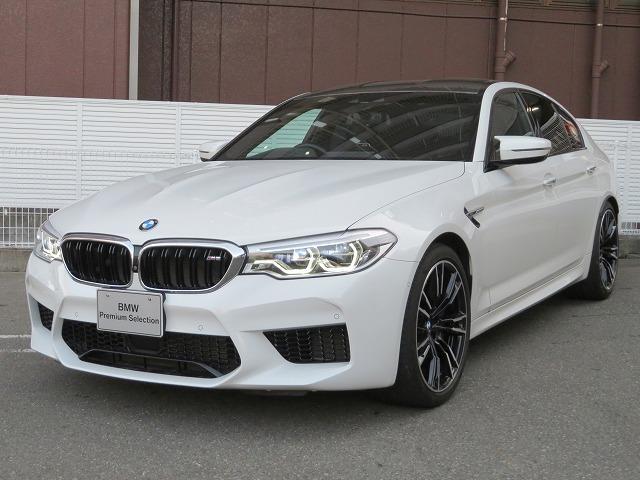 BMW M5 M5 コンフォートPKG LEDヘッドライト 20AW オートトランク コンフォートアクセス ブラックレザー マルチメーター 純正ナビ フルセグ トップ リアビューカメラ HUD 純正ETC 認定中古車