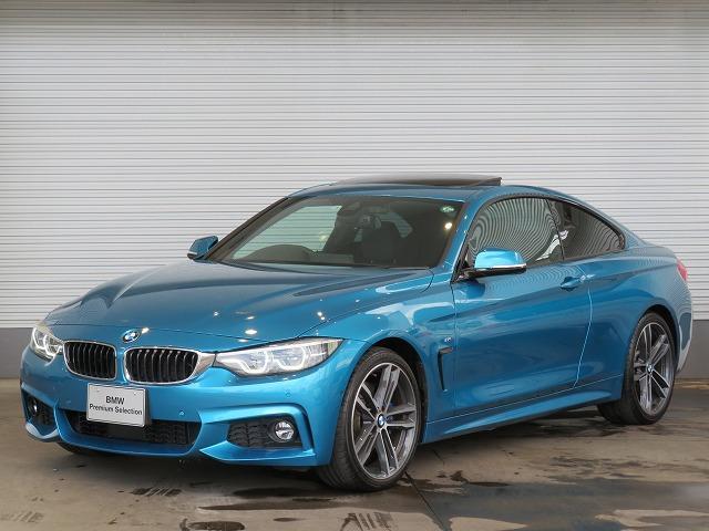BMW 420iクーペ Mスポーツ LEDヘッドライト 19AW サンルーフ ガラスSR パーキングサポートPKG PDC コンフォートアクセス レザーシート マルチディスプレイメーター 純正ナビ トップ リアビューカメラ 認定中古車