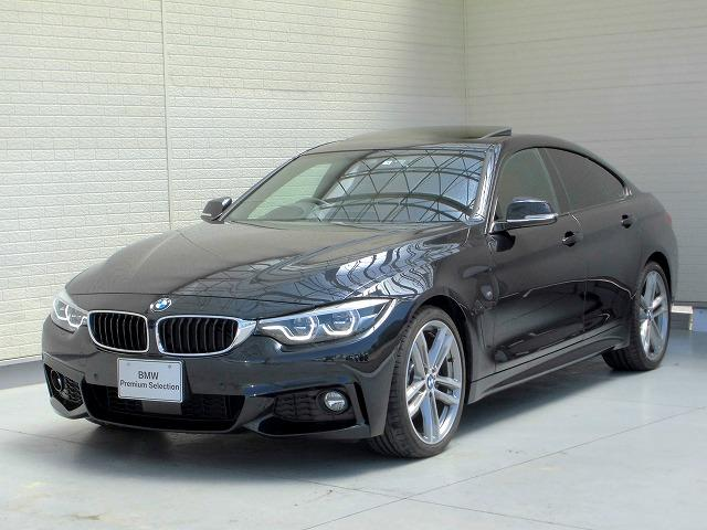 BMW 440iグランクーペ Mスポーツ LEDヘッドライト 19AW サンルーフ ガラスSR パーキングサポートPKG PDC オートトランク コンフォートアクセス レザーシート 純正ナビ トップ リアビューカメラ Aクルコン 認定中古車