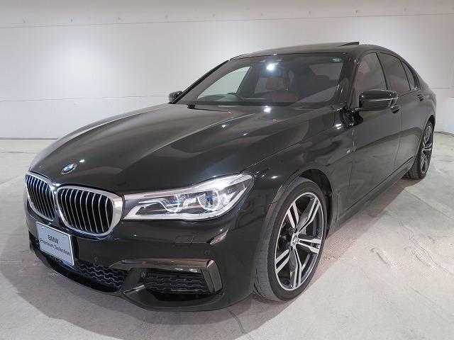 BMW 740i Mスポーツ レーザーライト 20AW サンルーフ ガラスSR ソフトクローズドア オートトランク コンフォートアクセス 純正ナビ リアモニター トップ リアビューカメラ HUD 純正ETC Aクルコン 認定中古車