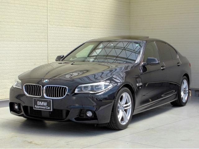 BMW 528i Mスポーツ MS LEDヘッドライト 18AW サンルーフ ガラスSR PDC コンフォートアクセス レザーシート マルチメーター 純正ナビ リアビューカメラ 純正ETC Aクルコン レーンチェンジ 認定中古車