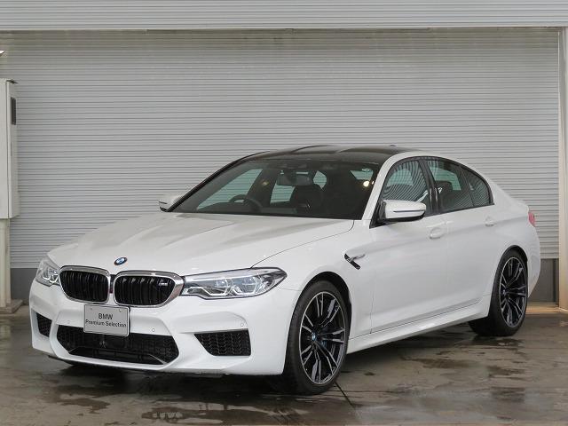 BMW M5 コンフォートPKG LEDヘッドライト 20AW オートトランク コンフォートアクセス ブラックレザー マルチメーター 純正ナビ トップ リアビューカメラ HUD 純正ETC クルコン 認定中古車