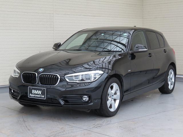 BMW 1シリーズ 118d スポーツ LEDヘッドライト 16AW パーキングサポートPKG PDC  純正ナビ iDriveナビ リアビューカメラ 純正ETC レーンディパーチャーウォーニング クルーズコントロール 認定中古車