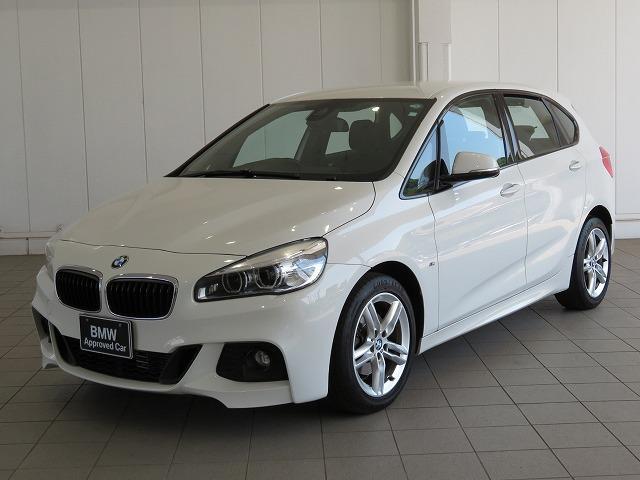 BMW 218dアクティブツアラー Mスポーツ MS LEDヘッドライト 17AW パーキングサポートPKG リアPDC 純正ナビ iDriveナビ リアビューカメラ 純正ETC レーン ディパーチャー ウォーニング 認定中古車