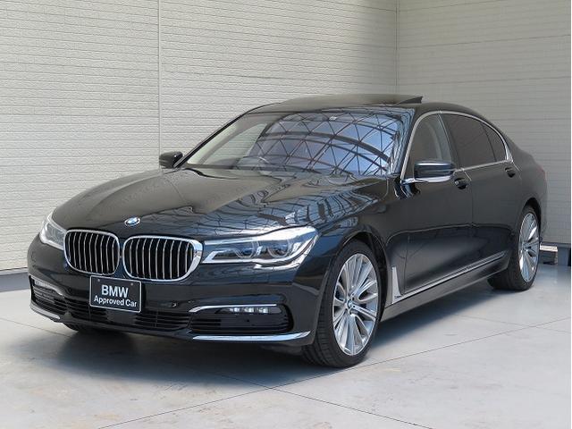 BMW 7シリーズ 740Li レーザーライト 20AW サンルーフ パノラマガラスSR PDC ソフトクローズドア コンフォートアクセス 茶革 純正ナビ トップ リアビューカメラ HUD 純正ETC Aクルコン 認定中古車