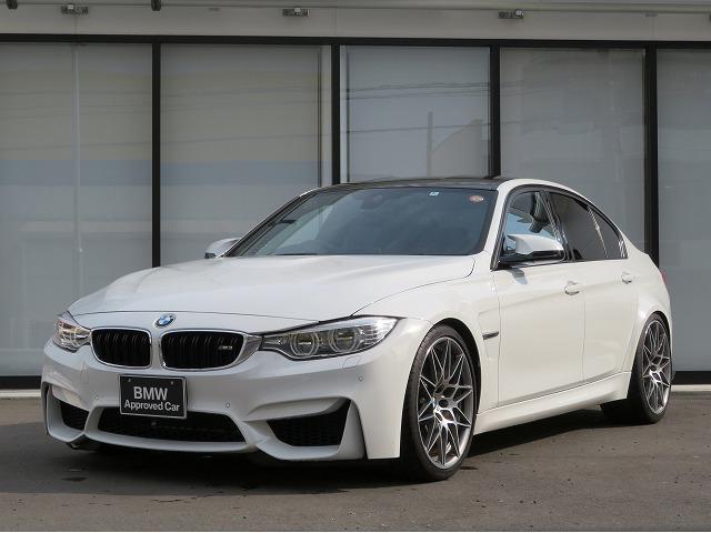 BMW M3 SEDAN M DCT Competition20AW アダプティブMサスペンション カーボンインテリアトリム AC SCHNITZERサスペンション 黒革 ハーマンカードンサラウンド 認定中古車