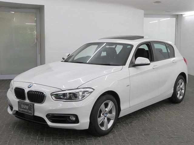 BMW 1シリーズ 118d スポーツ LEDヘッド 16AW サンルーフ ガラスSR パーキングサポートPKG リアPDC コンフォートアクセ 純正ナビ iDriveナビ リアビューカメラ 純正ETC Aクルコン 車線逸脱 認定中古車