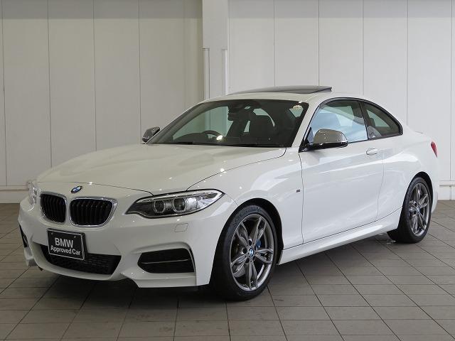 BMW M235iクーペ キセノン 18AW サンルーフ ガラスSR パーキングサポートPKG コンフォートアクセス レザーシート ブラックレザー 純正ナビ リアビューカメラ 純正ETC 車線逸脱 クルコン 認定中古車