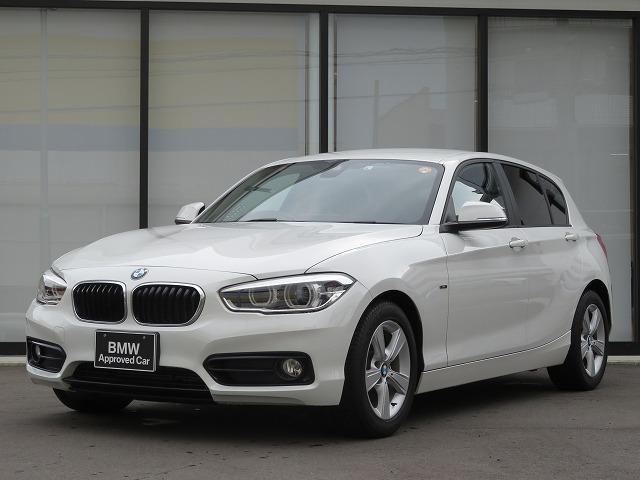 BMW 1シリーズ 118i スポーツ LEDヘッドライト 16AW パーキングサポートPKG リアPDC 純正ナビ iDriveナビ リアビューカメラ 純正ETC レーンディパーチャーウォーニング クルーズコントロール 認定中古車