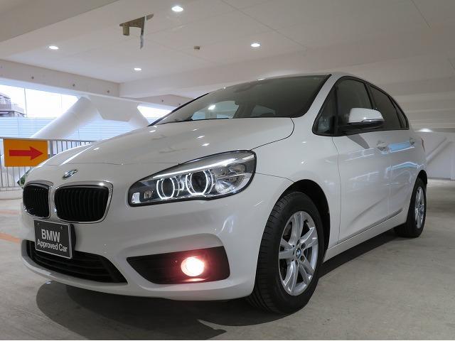 BMW 218dアクティブツアラー プラスPKG LEDライト 16AW パーキングサポートPKG PDC 純正ナビ 純正ETC レーンディパーチャーウォーニング 認定中古車