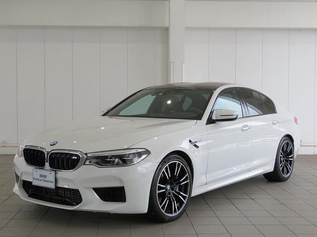 BMW M5 アクティブクルーズコントロール ハーマンカードンサラウンドシステム ステアリングアシスト 20AW 黒革 ベンチレーションシート オートトランク LEDヘッドライト ソフトクローズドア 認定中古車