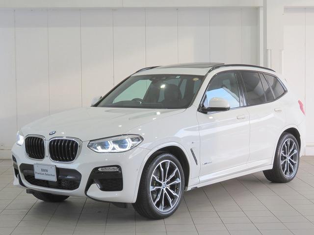 BMW X3 xDrive 20d Mスポーツ HiLine LEDライト 20AW サンルーフ PDC オートトランク スマートキー 黒革 マルチメーター 純正ナビ フルセグ ヘッドアップディスプレイ アクティブクルーズコントロール 認定中古車
