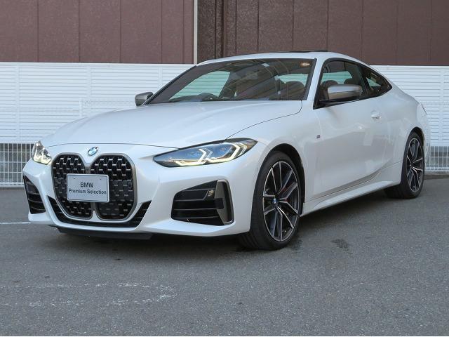 BMW 4シリーズ M440i xDriveクーペ LEDライト 19AW サンルーフ スマートキー フルセグ ヘッドアップディスプレイ ハーマンカードンサラウンドシステム アクティブクルーズコントロール 赤革 認定中古車