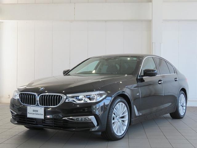 BMW 523d ラグジュアリー コンフォートPKG LEDヘッドライト 18AW ソフトクローズドア オートトランク コンフォートアクセス レザーシート ブラックレザー 純正ナビ トップ リアビューカメラ 認定中古車