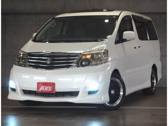 沖縄の中古車 トヨタ アルファードG 車両価格 56万円 リ済別 2005(平成17)年 12.5万km ホワイト