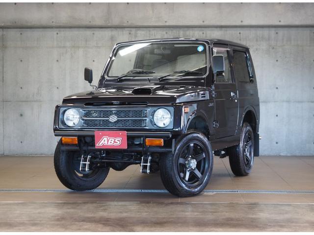沖縄県の中古車ならジムニー HC 買取直販 リフトアップ 5速MT ミッションオーバーホール 1速2速シンクロ交換 ブラックレザー調シートカバー 錆止め加工 同色ペイント