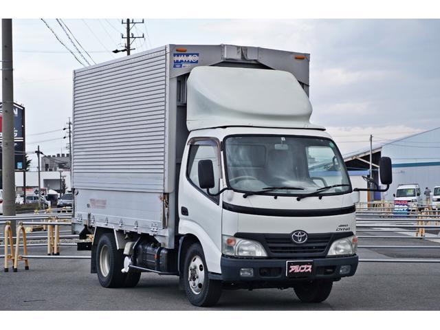 トヨタ セミロングフルジャストロー ロング 低床 アルミウイング 4WD 5速MT 社外ナビ