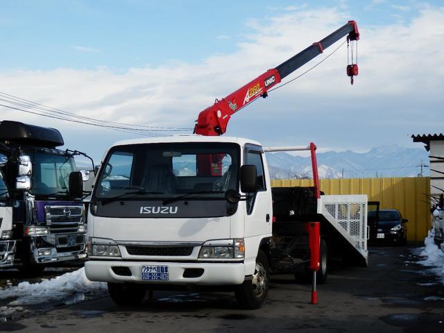 いすゞ 3.1t 超ロング 2.6吊3段クレーン 積載車 ローダー