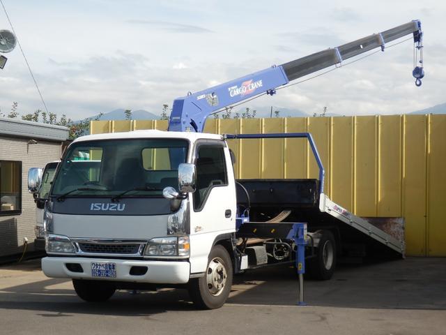 いすゞ 2.75t 超ロング 2.9t吊4段ラジコン 積載車クレーン