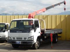 エルフトラック3.3t 超超ロング 2.9t吊4段クレーン 5.3mボディ
