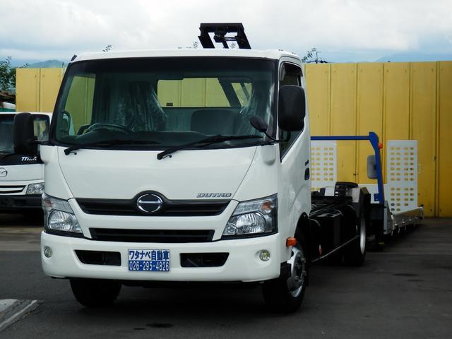 日野 3.25t 積載車 フルフラット 三方開 ターボ ローダー