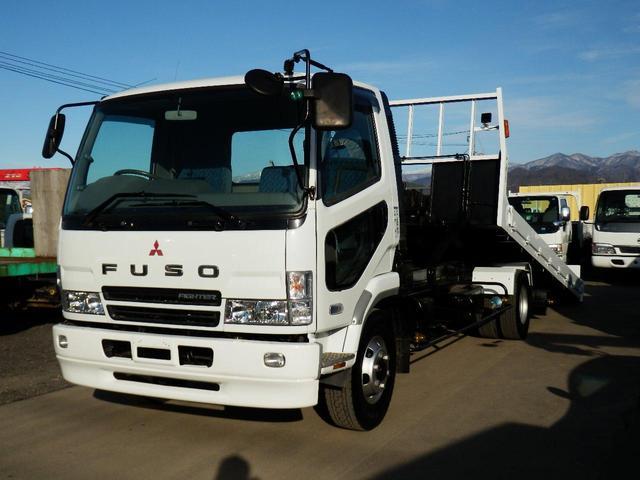 三菱ふそう 2.9t 積載車 運搬車 ローダー 三方開 タダノ SS50