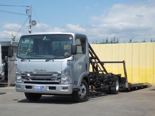 いすゞ 3t 5.2ターボ ユニックNEOα フルフラット 積載車