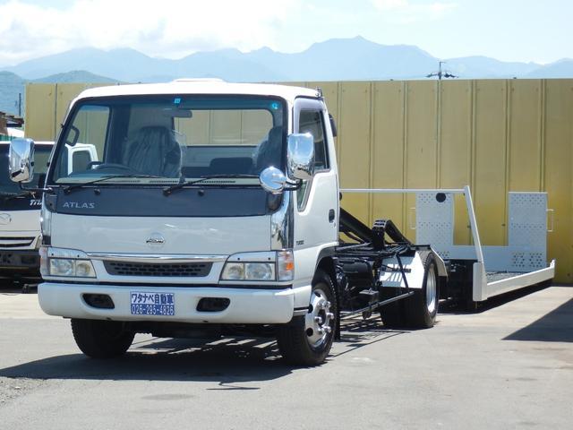 超ロング 3.45t 積載車 極東フラトップ ターボ 6速 フルフラット ラジコン 荷台固縛装置付 HID HSA ローダー キャリアカー 運搬車